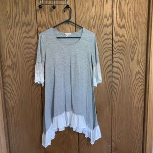 Grey & White Lace Tunic